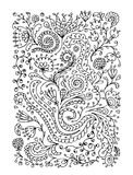 Floral ornament, hand drawn sketch for your design Stock Image