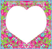 Floral ornament and heart in the middle. Royalty Free Stock Images