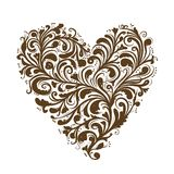 Floral ornament, heart shape for your design Royalty Free Stock Image