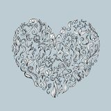 Floral ornament heart shape for your design.  Stock Photos