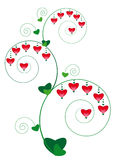 Floral ornament with hearts Stock Photos