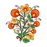 Floral ornament in Hohloma style. Russian folklore Stock Images