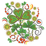 Floral ornament in Hohloma style. Russian folklore Royalty Free Stock Photo