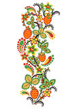 Floral ornament in Hohloma style. Russian folklore Stock Photo