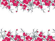 Floral ornament horizontal vector frame Stock Images