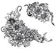 Floral ornament in india stile royalty free illustration