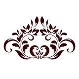 Floral ornament with leaves and swirls Royalty Free Stock Images