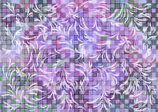 Floral ornament on mosaic background Royalty Free Stock Images