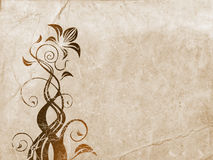 Floral ornament over old paper Royalty Free Stock Image