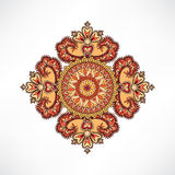 Floral ornament for pattern  Geometric design element Royalty Free Stock Photos
