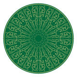 Floral ornament, pattern green. Indian motives. Hand-drawn Vector Illustration