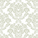 Floral ornament pattern with stylized lilies flowers Royalty Free Stock Image