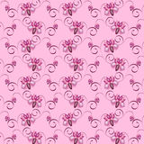 Floral ornament seamless. Pattern background with purple flowers Royalty Free Stock Photo