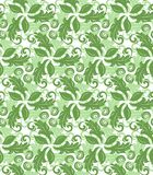 Floral Fine Seamless Pattern. Floral ornament. Seamless abstract classic background with green leaves. Pattern with repeating elements Stock Photos