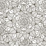 Floral ornament seamless pattern. Black and white round ornament texture Royalty Free Stock Image