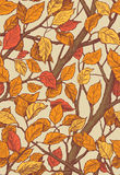 Floral ornament seamless pattern with leaves and brances. Stock Photography