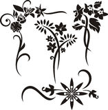 Floral ornament series Stock Image