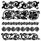 Floral ornament set. Ornament in Art Nouveau style. Set of elements Stock Photography
