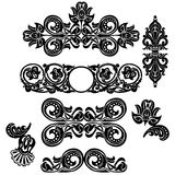 Floral ornament set. Ornament in Art Nouveau style. Set of elements Royalty Free Stock Photography