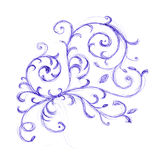 Floral ornament sketch Royalty Free Stock Image