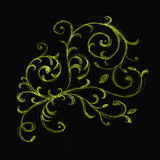Floral ornament sketch Royalty Free Stock Photography