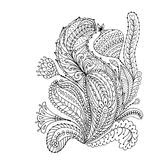 Floral ornament, sketch for your design Royalty Free Stock Photos