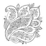 Floral ornament, sketch for your design Royalty Free Stock Photo