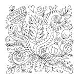 Floral ornament, sketch for your design Stock Photo