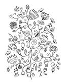 Floral ornament, sketch for your design Stock Image