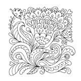 Floral ornament, sketch for your design Royalty Free Stock Images
