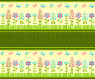 Floral ornament. Spring border. Stock Photography