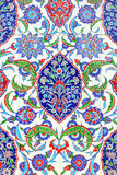 Floral ornament on tiles Royalty Free Stock Photo