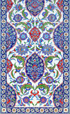 Floral ornament on tiles. Traditional turkish floral ornament on tiles Stock Photo