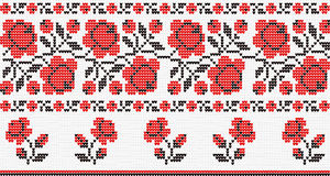Floral ornament at the Ukrainian motif Royalty Free Stock Photography