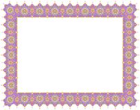 Floral Art Ornament Border in Violet colour Royalty Free Stock Images