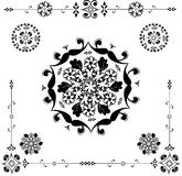 Floral ornament - vector. Vector ornament In flower style - frame Royalty Free Stock Image