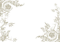 Floral ornament vector Royalty Free Stock Images