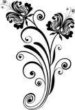 Floral ornament - vector. Monochrome floral ornament - vector illustration stock illustration