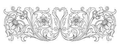 Floral ornament vector Stock Image