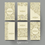 Floral Ornament Vector Brochure Template. Flyer Layout Stock Photo