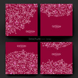 Floral ornament vector brochure template. Flyer Layout Royalty Free Stock Images