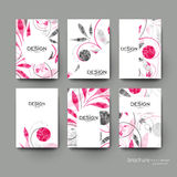 Floral ornament vector brochure template. Flyer Layout Stock Photos