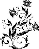 Floral ornament - vector illustration royalty free illustration