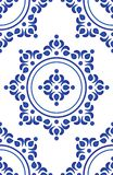 Blue tile pattern vector Royalty Free Stock Photo