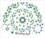 Floral ornament for wedding decoration Stock Images