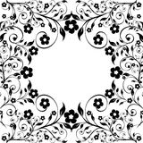 Floral ornament on white background Stock Images