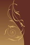 Floral ornamental background. Ornamental border, design element. Vector image Vector Illustration