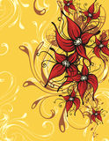 Floral ornamental background Stock Images
