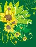 Floral ornamental background Stock Image