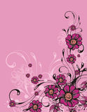 Floral ornamental background Stock Photo